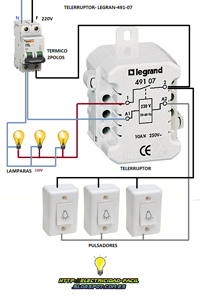 Telerruptor Legrand Esquema Electrico Monofasico Para Caja