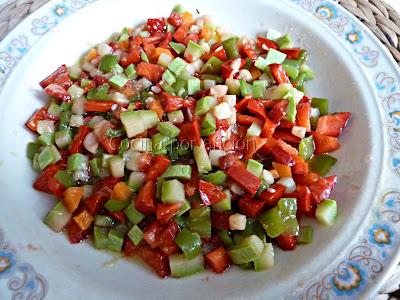 vinagreta de verduras y fresas