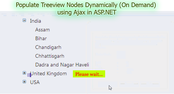 How to Populate Treeview Nodes Dynamically (On Demand) using