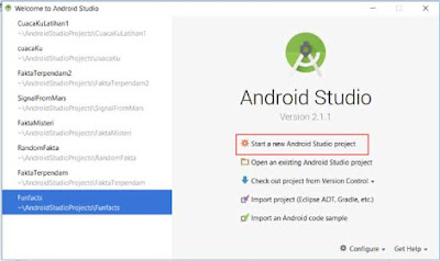 membuat project baru di android studio