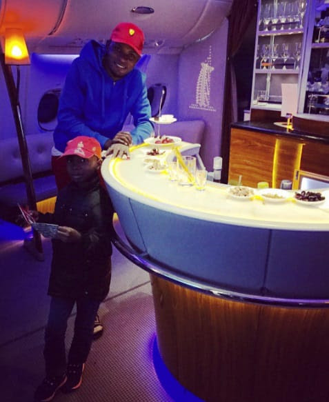 Little Emmanuella and Mark Angel spotted aboard private jet