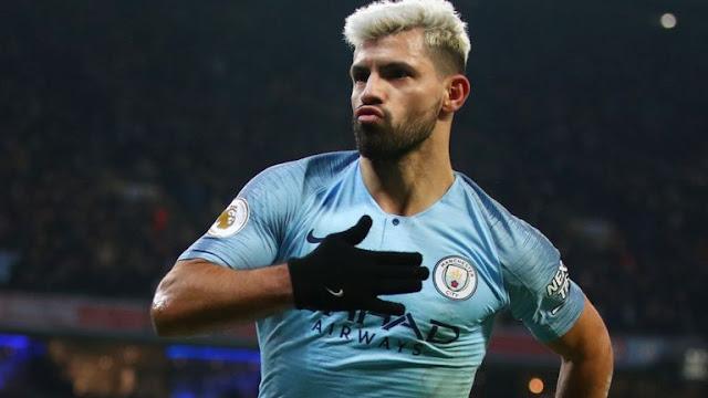 Sergio Aguero Huddersfield Town Vs Manchester City