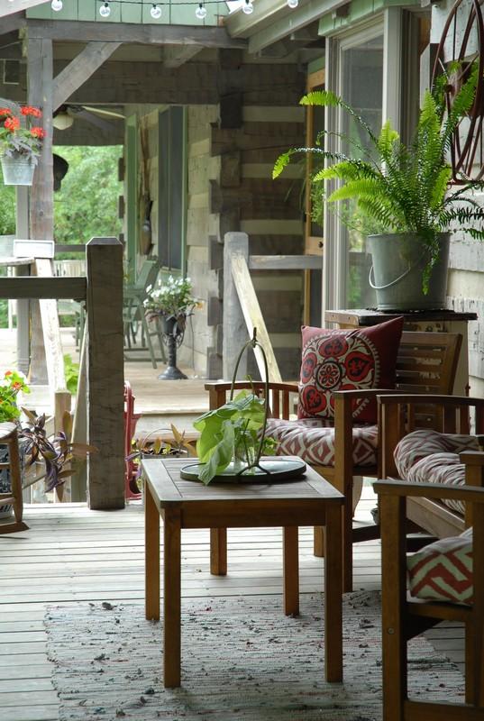 Hood Creek Log Cabin Summer Porch Summer Home Love Tour