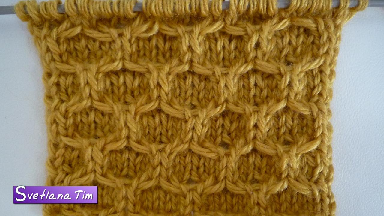 вязание спицами крупные соты