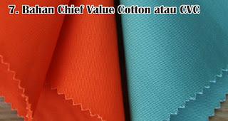 Bahan Chief Value Cotton atau CVC adalah salah satu jenis bahan yang sering digunakan untuk membuat kaos