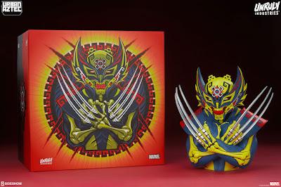 Wolverine Urban Aztec Vinyl Bust by Jesse Hernandez x Unruly Industries x Marvel Comics