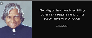 """No religion has mandated killing others as a requirement for its sustenance or promotion."""