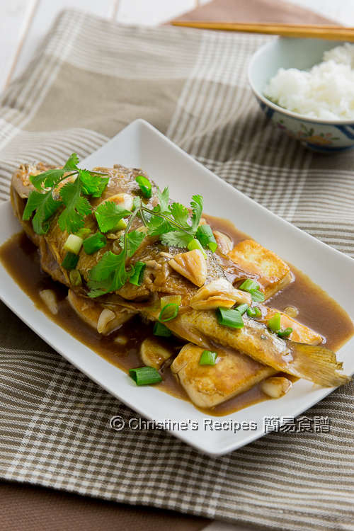 Braised Yellow Croaker Fish with Garlic and Tofu02
