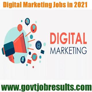 Latest Digital Marketing Jobs in 2020-21