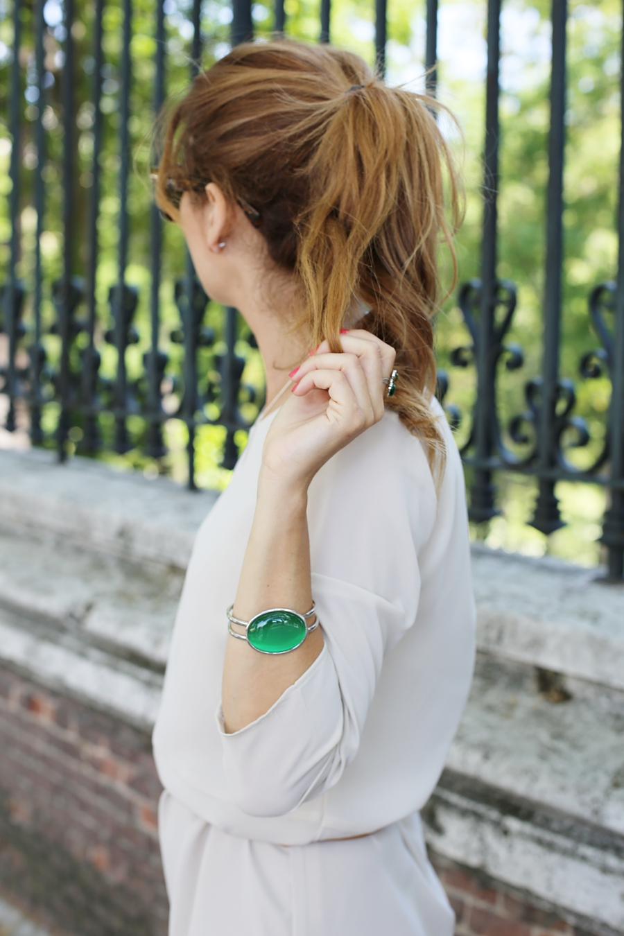 Ponytail -  Green Bracelet