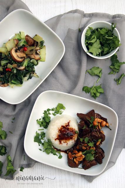 Rinderfilet mit Zitronengras und Pak Choi-Gemüse