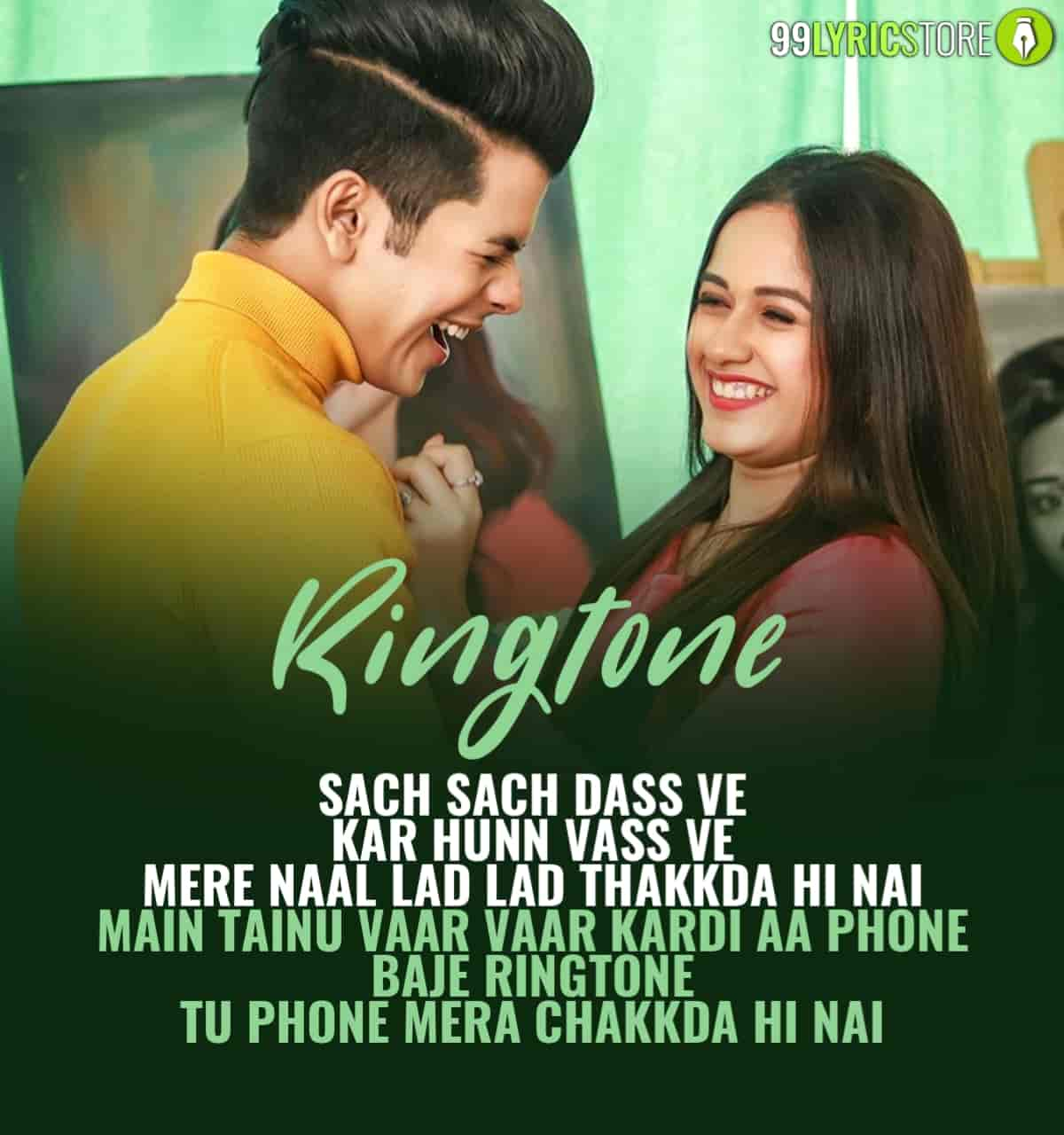 Ringtone Punjabi Song Image Features Jannat Zubair and Siddharth Nigam
