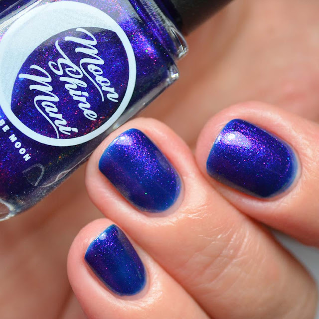 indigo shimmer holographic nail polish swatch