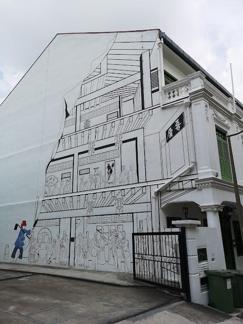 Chinatown mural - 吾庐俱乐部