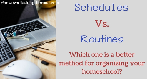 Schedules or routines for homeschooling