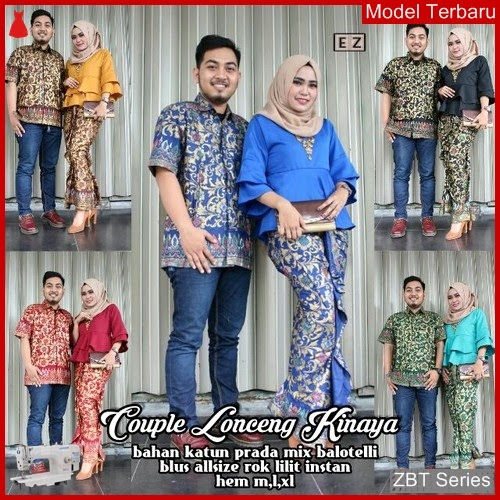 ZBT02009 Kebaya Dress Batik Lonceng Kirana Brokat BMGShop