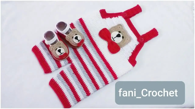 Cómo Tejer un Mameluco o Enterito con Motivo de Osito a Crochet
