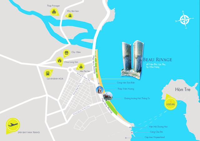 vị trí đắc địa dự án Beau Rivage Nha Trang