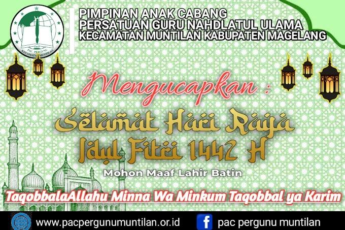 Sambutan Idul Fitri oleh Ketua PAC Pergunu Kecamatan Muntilan Muhamad Heri Wibowo,S.T.