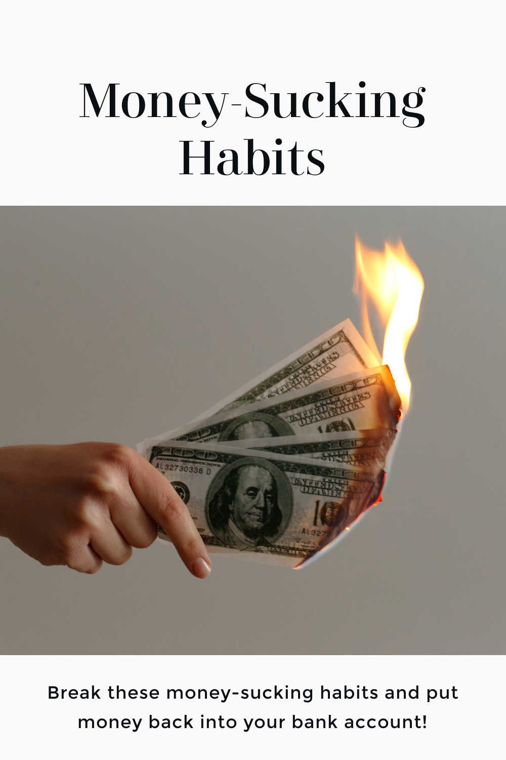 money sucking habits to break
