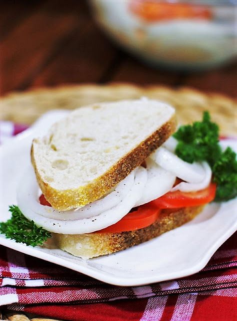 Ultimate Vidalia Onion & Tomato Sandwich Image