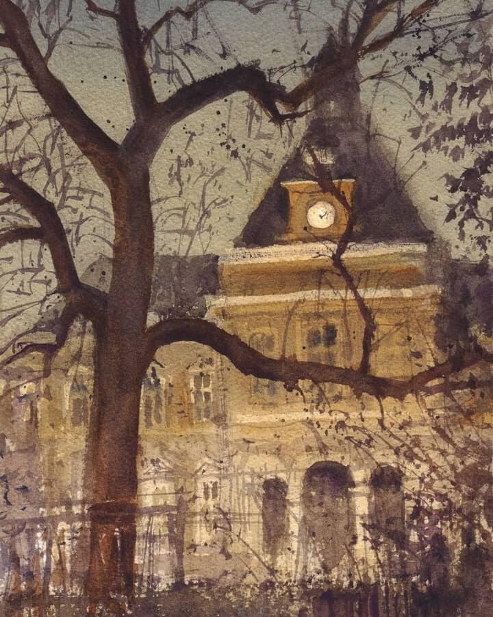 05-Mairie-du-19e-arrondissement-nocturne-JC-Figuera-www-designstack-co