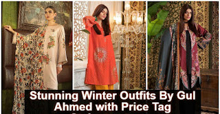 Unique Stunning Winter Outfits By Gul Ahmed With Prices