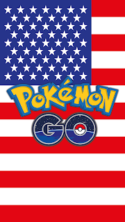 Wallpaper Pokemon GO flag USA for Android phone and free Iphone