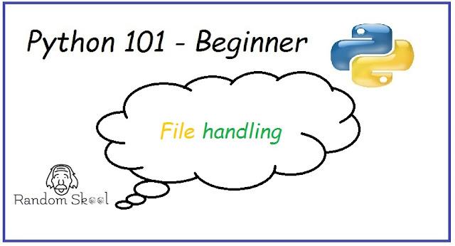 Python Programming 101 - File handling