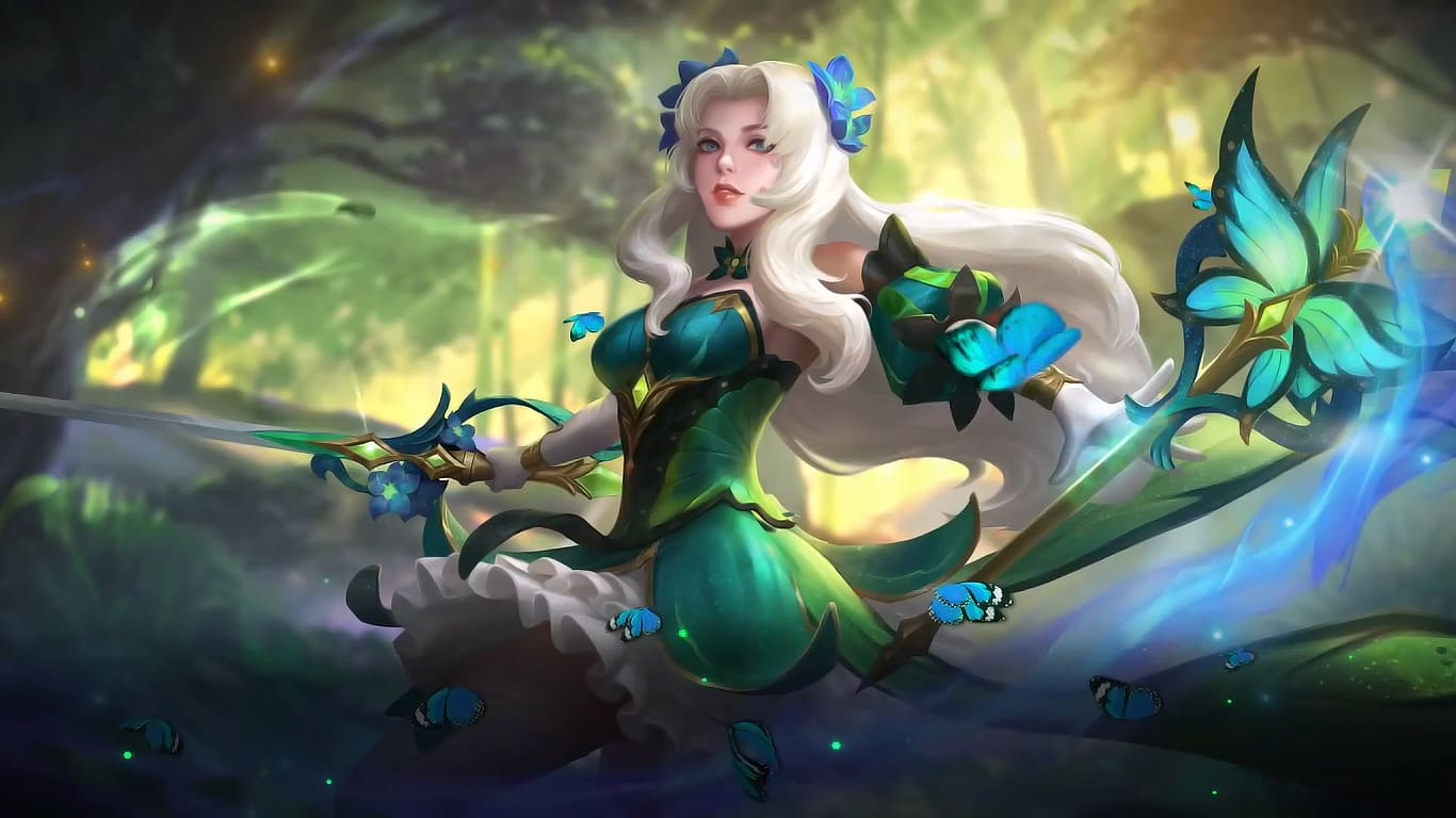 Wallpaper Odette Butterfly Goddess Skin Mobile Legends HD for PC