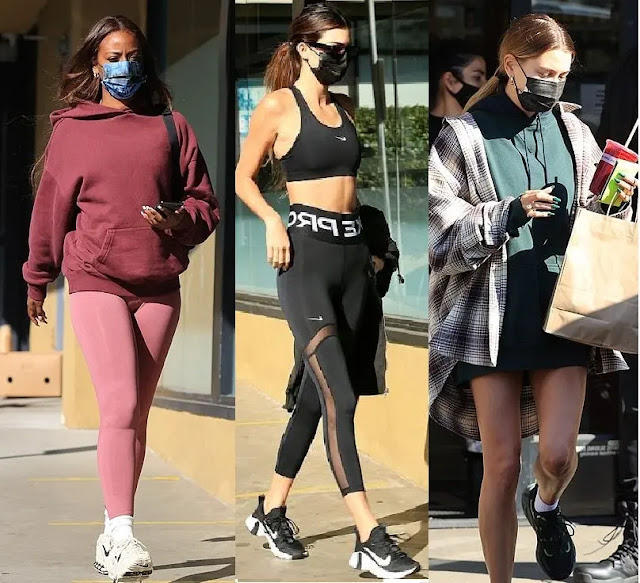 Clothing & Accessories: Kendall Jenner, Hailey and Justine Skye in Los Angeles
