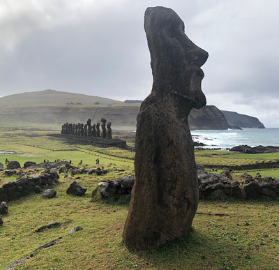 One of many hardened volcanic ash statues on Rapa Nui (Source: Palmia Observatory)
