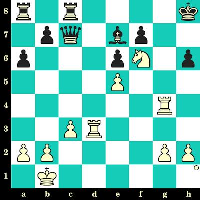 Les Blancs jouent et matent en 2 coups - Konchi vs Harry Golombek, Varna, 1962