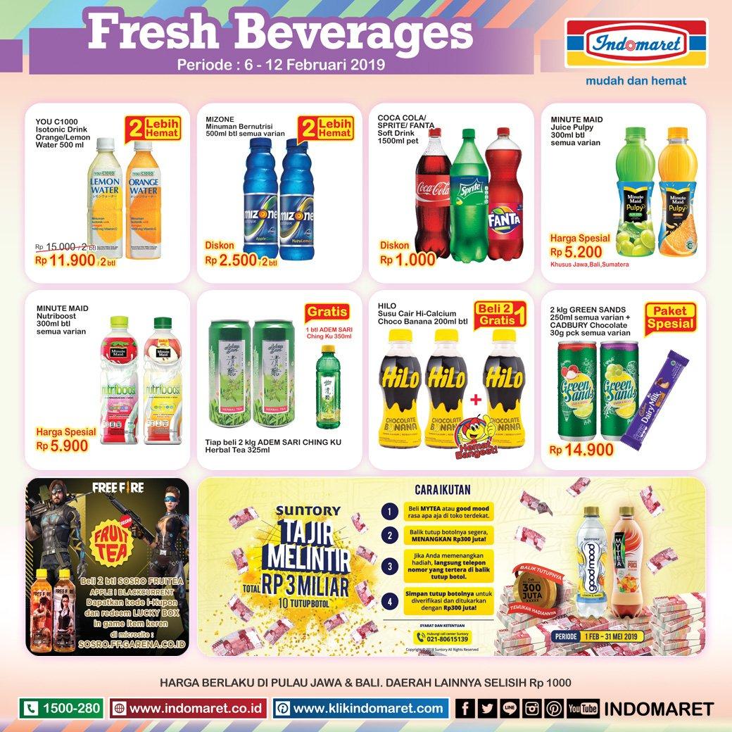 #Indomaret - #Promo #Katalog Fresh Beverage Periode 06 - 12 Februari 2019