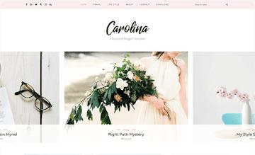 Carolina Responsive Blogger Template By ThemeXpose