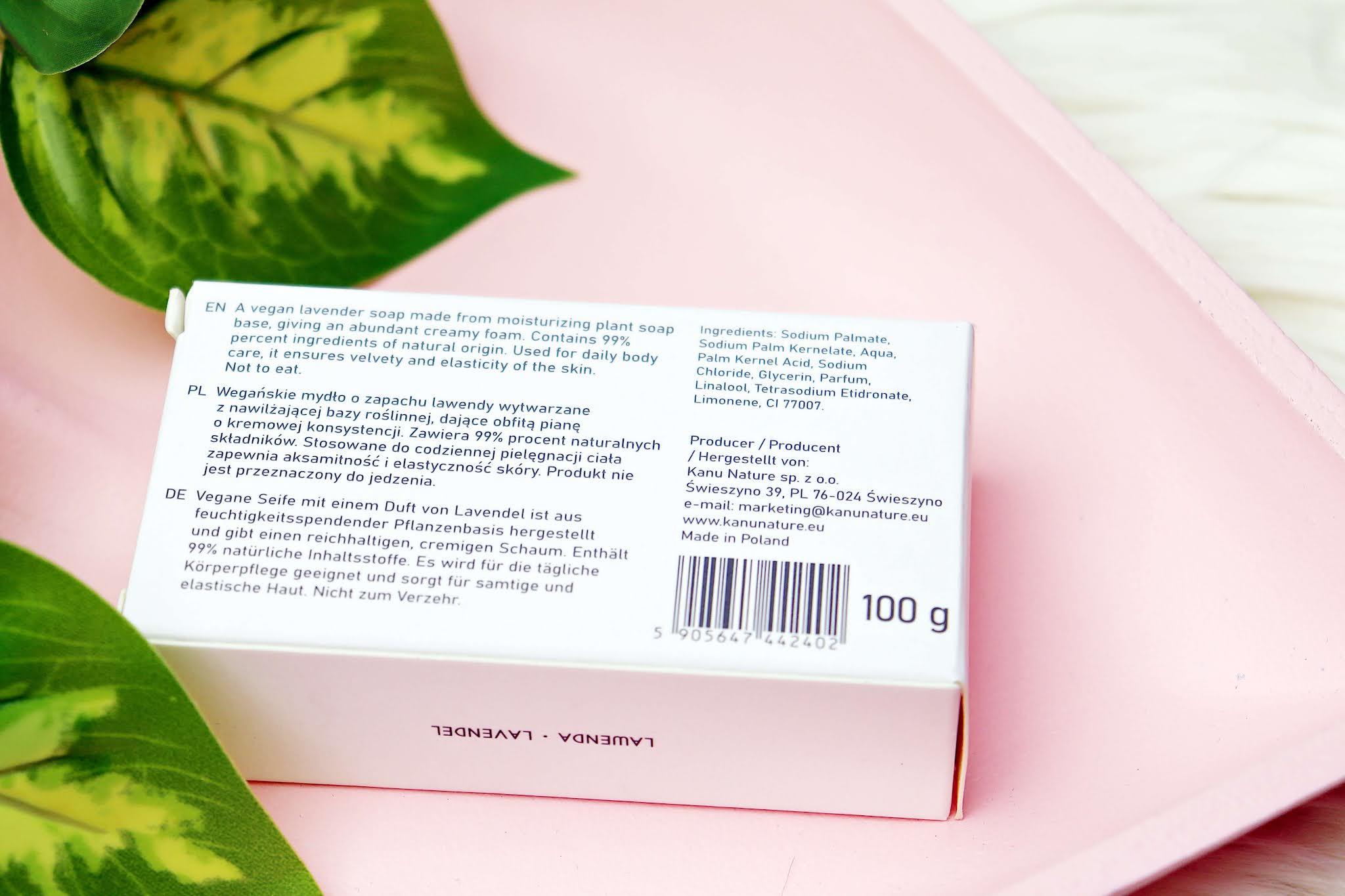 Kosmetyki Kanu Mydło w kostce Lawenda