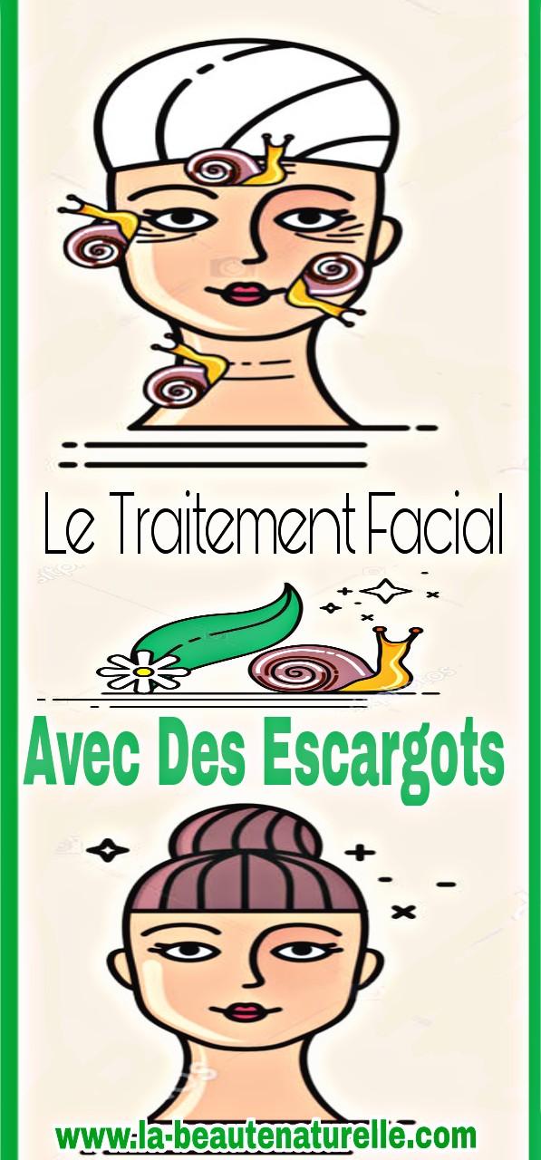 Le traitement facial avec des escargots