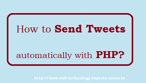 How to Send Tweets automatically with PHP