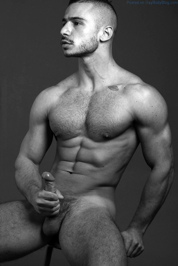male model with hard on nude