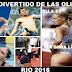 Deportistas y atletas graciosos de los juegos olímpicos