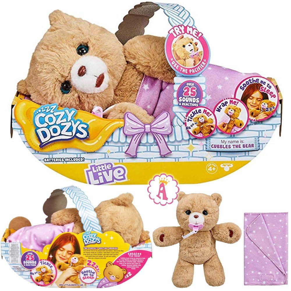 Little Live Pets Cozy Dozy медвежонок в корзинке