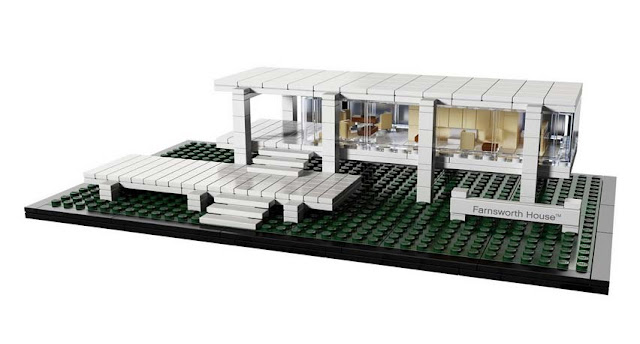 Green Pear Diaries - Lego architecture Farnsworth House