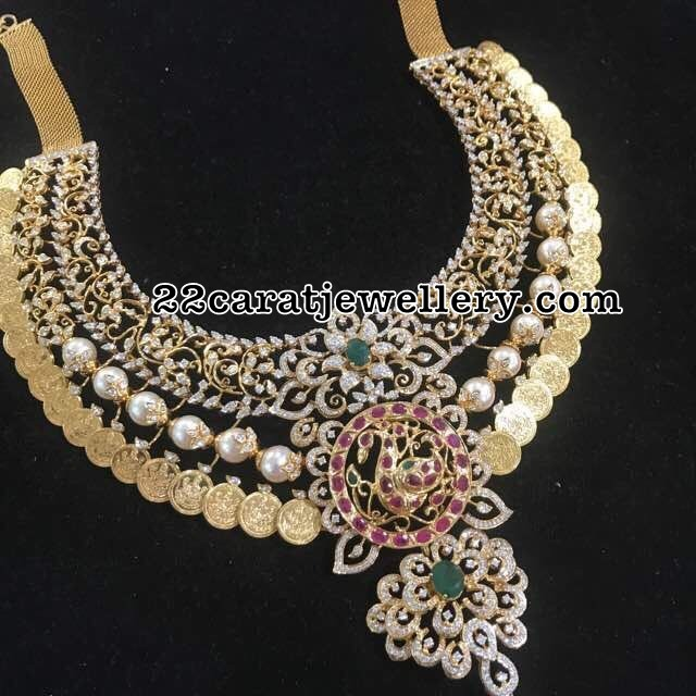 Grand Kasu Necklace with Diamonds