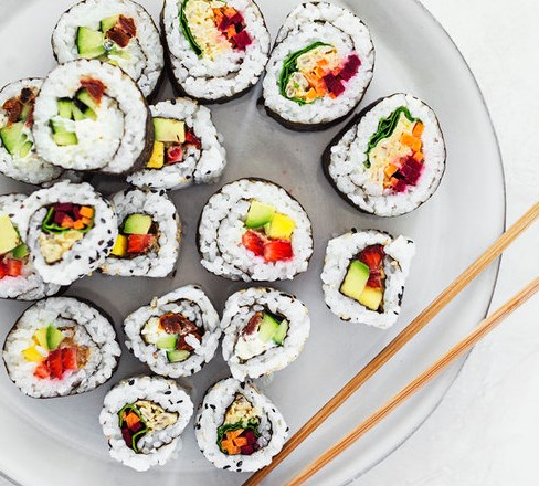 EASY VEGAN SUSHI ROLLS (3 RECIPES IN 1) #vegetarian #veganrecipe