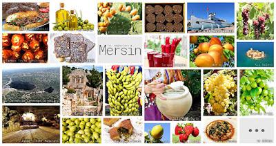 Mersin'in meşhur şeylerini gösteren resimlerden oluşan kolaj