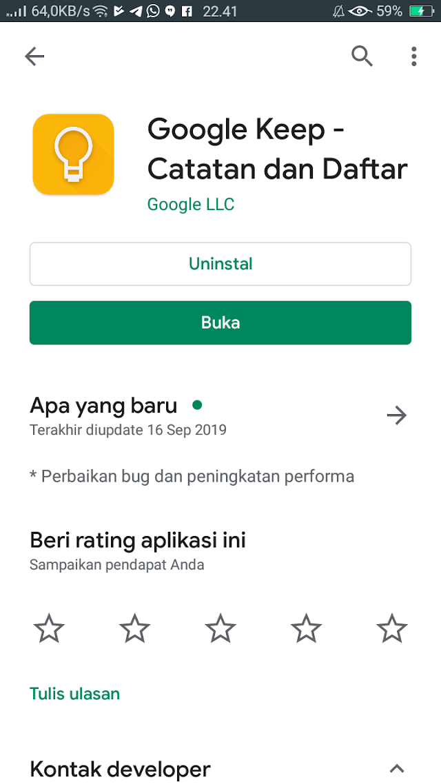 Review Aplikasi Google Keep