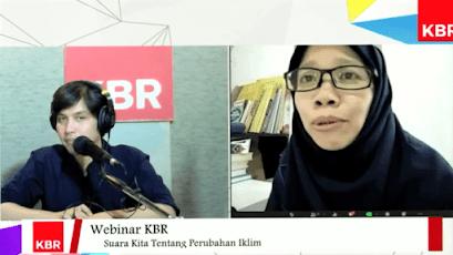 Webinar KBR tentang dampak perubahan iklim di Indonesia
