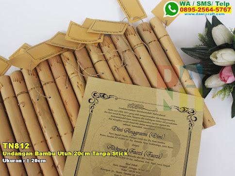Undangan Bambu Utuh 20cm Tanpa Stick