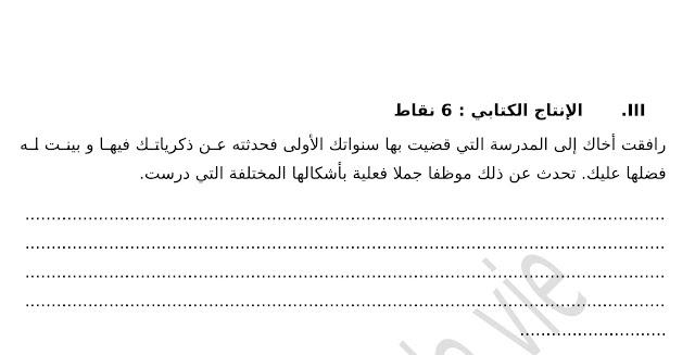 فرض تأليفي عدد 1 في دراسة النص  - السنة 7 أساسي