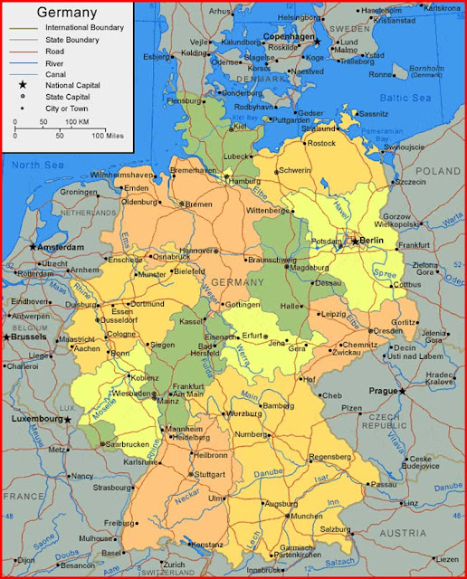 Gambar Peta Jerman